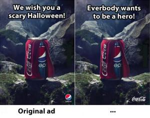 Coca Cola vs. Pepsi advertisements…