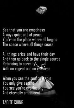Tao Te Ching ~ emptiness - you Will See you're EverLasting and ...