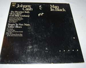 Johnny Cash Man In Black LP Record Album Columbia C 30550