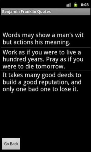 View bigger - Benjamin Franklin Quotes for Android screenshot