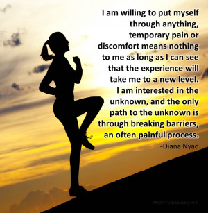Be willing to experience a little pain and discomfort on your weight ...