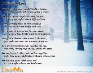 forbidden love poems