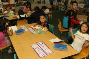 first grade students begin