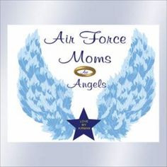 AIR FORCE MOMS ARE ANGEL COLORED WINDOW DECAL SMALL at the Shopping ...
