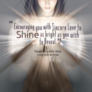 You Shine Bright Quote