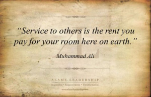 AL Inspiring Quote on Service to Others