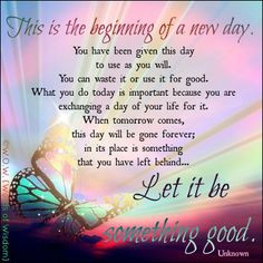 Tuesday Morning Quotes New day, life quotes,