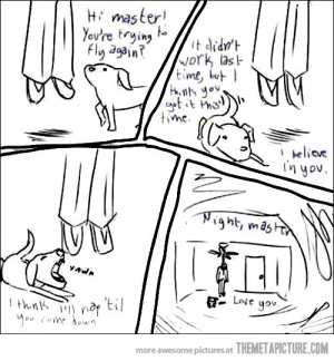 Funny photos sad comic dog owner hanged