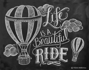 Chalkboard Art Quotes Ride - chalkboard art