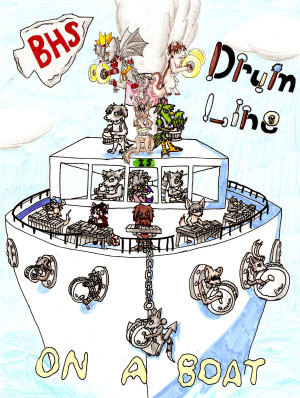 Funny Drumline Quotes Bhs drumline on a boat by