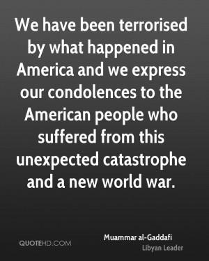 Muammar al-Gaddafi War Quotes