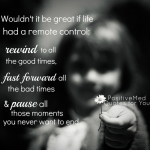 Wouldn't it be great if life had a remote control