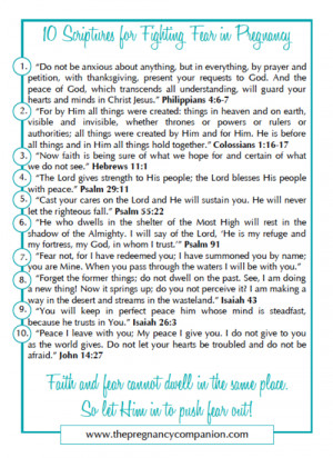 ... of 10 Scriptures for Fighting Fear in Pregnancy, click here