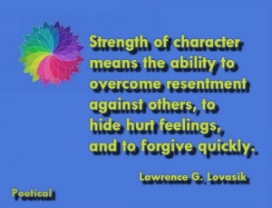 Strength of character – Lawrence G. Lovasik