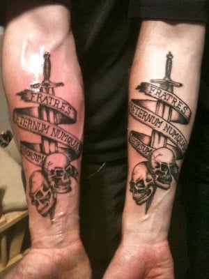 Brother tattoo quotes quotesgram for Military sleeve tattoo