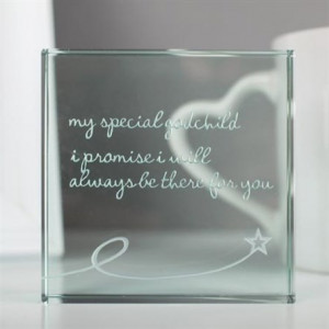Spaceform Medium Paperweight 'My Special Godchild'