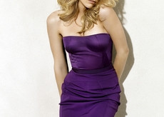women amber heard purple dress simple background white background