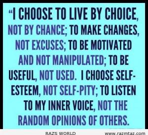 VT I CHOOSE TO ....