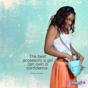 ... with confidence #Cashmere #quote #confidence #accessories #positivity