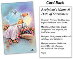 catholic baptism prayer card | ... baptism holy cards $ 10 00 full ...