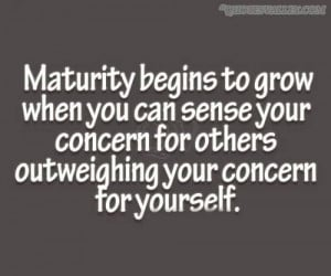 maturity quotes sayings