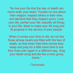 Smart man that Tecumseh :)