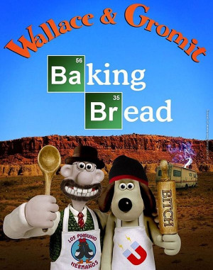 funny pics wallace and gromit baking bread