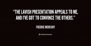 The lavish presentation appeals to me, and I've got to convince the ...