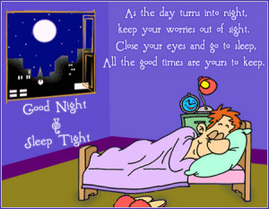 Good Night Cartoon Clipart image