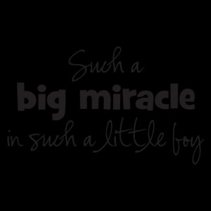 Big Miracle Little Boy Wall Quotes™ Decal