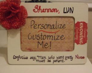 Nurse, personalized gift for nurse, nurse frame, quote frame for nurse ...