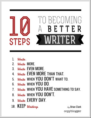 10 Steps to Becoming a Better Writer (Poster)