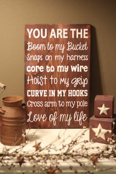 Lineman's Wife/Girlfriend 12x18 Sign by rusticexpressionsid, $25.00 ...
