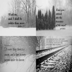 Winter Bible Verse Art Scripture Quotes Christian Nature Black White ...