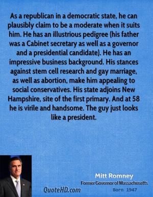 Mitt Romney Marriage Quotes