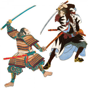 Samurai battle T-Shirt by RocketTshirts.com