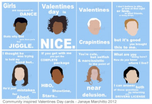 will definitely hand out these Community Valentine's Day cards in a ...