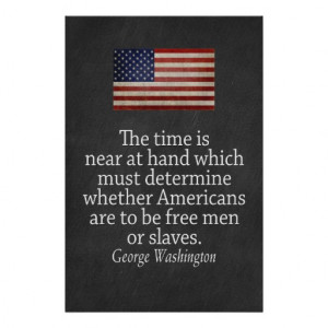 washington_quote_on_freedom_and_slavery_poster ...