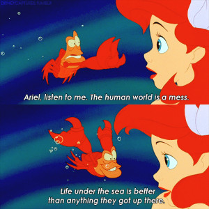 ... Convincing Ariel Life Is Better Under The Sea In The Little Mermaid