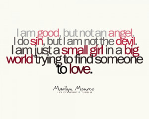 Am Good, But Not An Angel - Angels Quote
