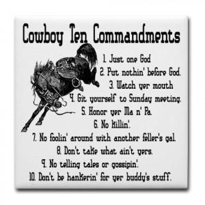 rodeo quotes and sayings Cowboy Ten Commandmen... )