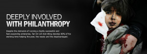 Deeply involved with Philanthropy - Despite the demands of running a ...