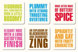 Wine Quote Letter Press Coasters