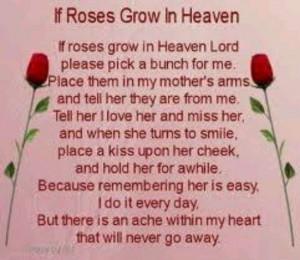 birthday poems for mothers in heaven | In Loving Memory / RoseRose ...