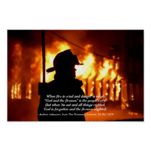 Firefighter Quote Posters