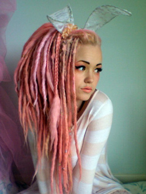 dreads, ears, girl, hair, lips, pink, pretty