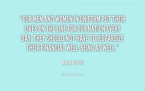 Men and Women in Uniform Quotes