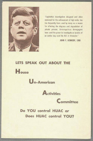 House Un American Activities Committee House Un American Activities