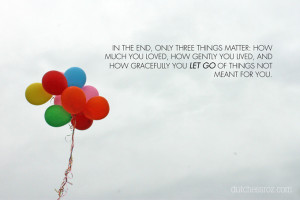 Only three things matter..
