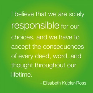 believe that we are solely responsible for our choices, and we have ...